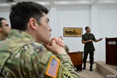 Visita de comitiva da Command and General Staff College